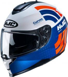 HJC-C70-Curves-Blue-White-Full-Face-Helmet-Helm-Casque-Kask-Casco-1