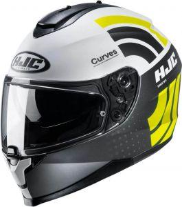 HJC-C70-Curves-Grey-Yellow-Full-Face-Helmet-Helm-Casque-Kask-Casco-1