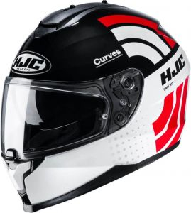HJC-C70-Curves-White-Red-Full-Face-Helmet-Helm-Casque-Kask-Casco-1