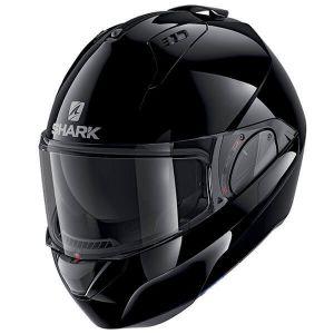 Shark_EVO_ES_BLANK__BLK_Black_Modular_Helmet_Helm_Casque_Kask_Casco_1