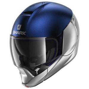 Shark_EVOJET_DUAL_BLANK_Mat_SBS_Silver_Blue_Silver_Full_Face_Jet_Helmet_Helm_Casque_Kask_Casco_1