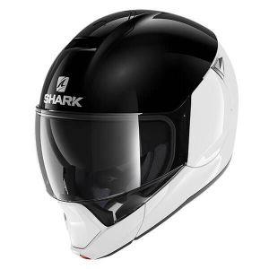Shark_EVOJET_DUAL_BLANK_WKW_White_Black_White_Full_Face_Jet_Helmet_Helm_Casque_Kask_Casco_1